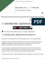 1- Introducción. Apariencia Del Entorno - AprendeAProgramar