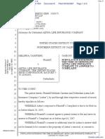 Carstens v. Aetna Life Insurance Company et al - Document No. 6