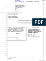 National Federation of the Blind et al v. Target Corporation - Document No. 112