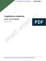Linguística románica