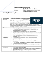 2015 internship professional goals