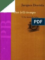 Dar (el) tiempo. Jacques Derrida.
