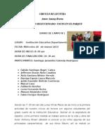 Diarios de Campo Actividades Circulo de Lectura 1, 2, 3,