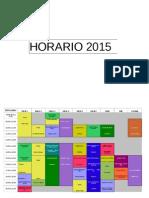 HORARIOS 2015 Provisorios Por Obra