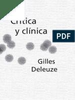 DELEUZE, Gilles (1993) - Crítica y clínica (Anagama, Barcelona, 1996)