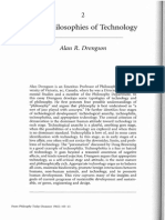Four Philosophies of Technology