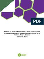 Análisis de Los Monitoreos Ambientales en Tintaya