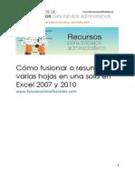 34_Cómo Fusionar o Resumir Varias Hojas en Una Sola en Excel 2007 y 2010