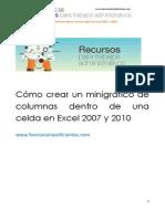25_Cómo Crear Un Minigráfico de Columnas Dentro de Una Celda en Excel 2007 y 2010