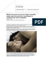 2013 Oral Sex - Scientific Study