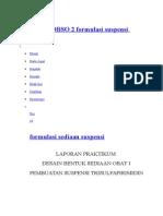 Praktikum DBSO 2 Formulasi Suspensi Trisulfa