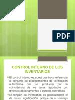 Control Interno de Los Inventarios