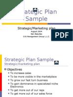 Sample Strategic Plan