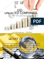 cost of capital and unlisted comapnies