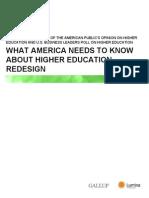 2013 Gallup-Lumina Foundation Report
