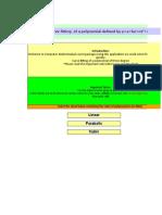 EQ-502 Curve Fitting - Polynomial
