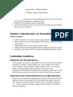 Termodinamica en Agroindustria