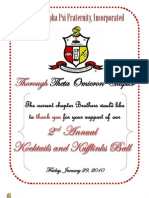 UNC NUPES Present the 2nd Annual Kocktails & Kufflinks Ball (Theta Omicron Ball Booklet)