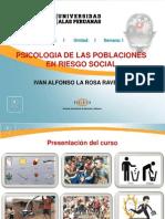 Psicología Humana Psicologia Poblaciones Riesgo Social Unidad i Sem01