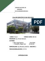 Calor Especifico de Solidos Informe