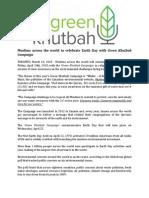 Press Release - Green Khutbah Campaign 2015 V1