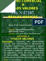 0.- Derecho Comercial II- Titulos y Valores