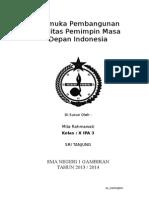 Makalah Pramuka Pembangunan Kualitas Pemimpin Masa Depan Indonesia