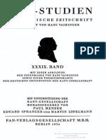 Kant Studien 1934