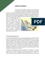 Provincias Fisiograficas de Mexico