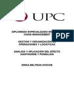 Analisis Del Efecto Hawthorne - Pigmalion