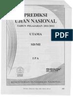 Prediksi Ujian Sekolah IPA 2012