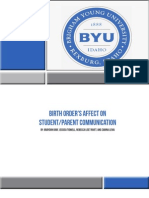 Birth Order Research
