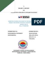 Marketing Strategy of Maruti Report (3)