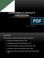 LAS REFORMAS AL ARTÍCULO 3° CONSTITUCIONAL