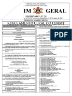14 - Portaria Nº 009.BM-8.2013 Aprova o Regulamento Geral Do CBMMT
