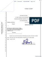 Johnson v. Pharmacia Corporation et al - Document No. 4