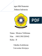 Tugas Mid Semester Bahasa Indonesia