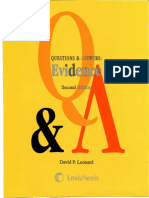 David P. Leonard, LexisNexis (Firm)-Questions & answers_ multiple choice and short answer questions and answers - Evidence-LexisNexis (2009).pdf
