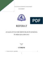 Analiza Evoluției Serviciilor În România În Perioada 2009