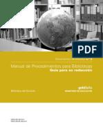 Manual de Procedimientos para Bibliotecarios
