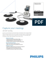 Philips Digital Pocket Memo 8900 Meeting Recorder with 360° Recording