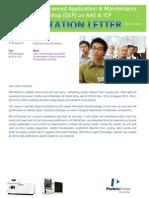 150818 -- Invitation Letter for Enhanced Application & Maintenance Course