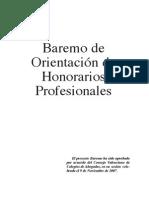 HONORARIOS BAREMO 2008