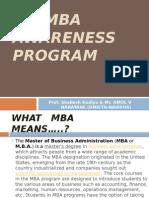MBA Awareness