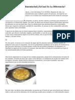 Dieta Y Regimen Alimentario…¿Cual Es La Diferencia?