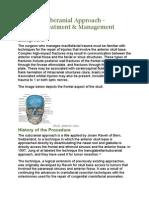 Anterior Subcranial Approach