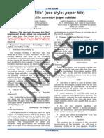 JMEST Manuscript Template