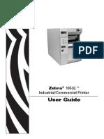 Zebra 105 printer xx