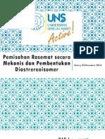 Pemisahan Rasemat Secara Mekanis Dan Pembentukan Diastrereoisomer