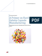A Primer on Hard Gelatin Capsule Manufacturing